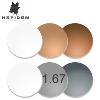 HEPIDEM 1.67 superficie asferica grigio/marrone fotocromatiche lenti di prescrizione miopia ipermetropia occhiali da sole lenti di protezione UV