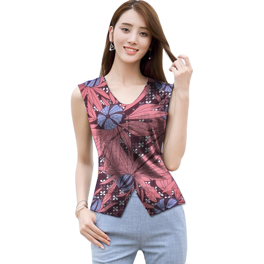 8cb57d37f68 African Print Women s Tops Sleeveless Design Dashiki Clothes Custom Made  Ankara Shirt For Ladies Africa Styled Party T Shirt