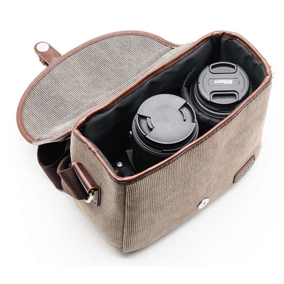 Retro alta Qualidade DSLR Camera Bag Case Capa Para Nikon D5300 D3400 D3300 D3100 D7200 P900 Sony alpha A7 Canon câmera Mochila