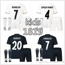 297bb99a986 2018 2019 Real Madrid kids kit jersey 18 19 Home Away football camisetas  Thai shirt ronaldo