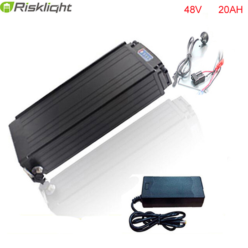 48V 20AH battery electric bike rear rack battery 1000W bike lithium battery power Aluminum case with Power lights Tail lights rear rack 48v 1000w electric bike battery 48v 20ah electric bicycle battery 48v 20ah lithium ion battery power tail lights
