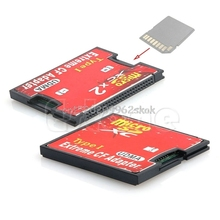 Двойной Micro SD TF SDHC SDXC, чтобы CF Тип я UDMA высокоскоростной адаптер памяти # H029 #