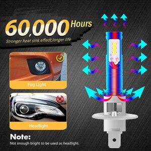 Image 4 - Katur 2pcs H1 Led Bulbs for Cars CSP LED Chips Bulb Auto Led Light Fog Lamp Super Bright Auto Running Lights 6500K White DC12V