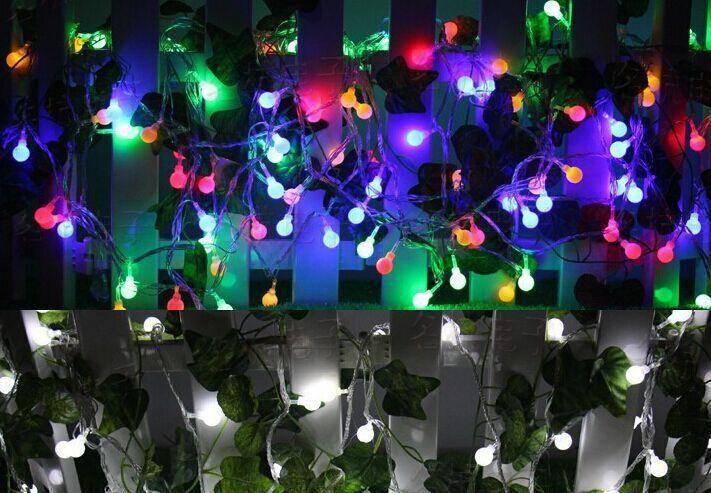 10M 100 LEDs 110V 220V Waterproof IP65 Outdoor Multicolor LED String Lights Christmas Lights Holiday Wedding Party Decotation