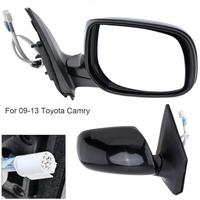 1pcs Non Folding Durable Car Right Side Mirror Waterproof Auto Right Hand LH Mirror for 09 13 Toyota Corolla