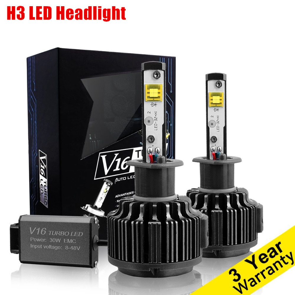 Супер яркий Автомобильный светодиодный светильник, комплект преобразования H3 Светодиодный светильник для противотуманных фар DRL, Дневной ...