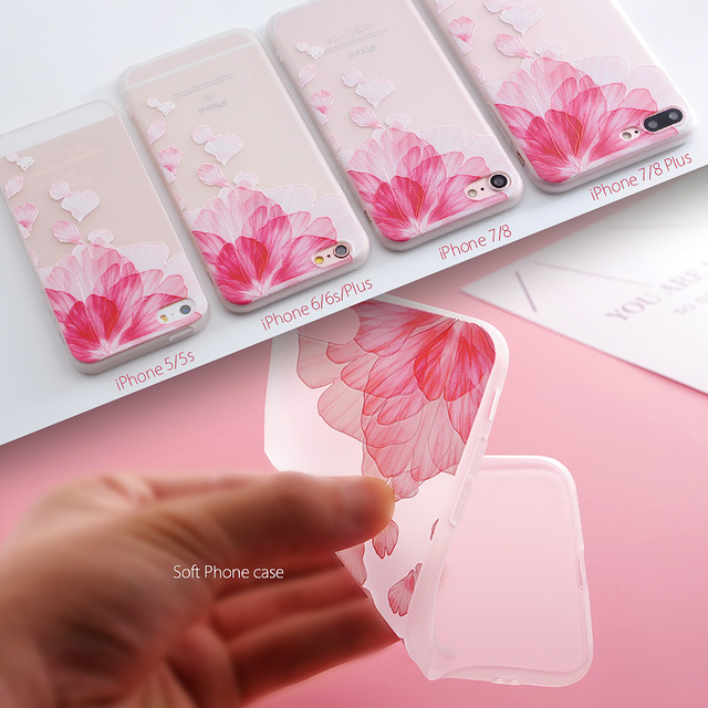 SoCouple Relief TPU case For iphone 7 8 7/8 plus 5 5s SE Case Ultra-thin Scrub Silicone Phone Cases For iphone 6 6S Plus X  2