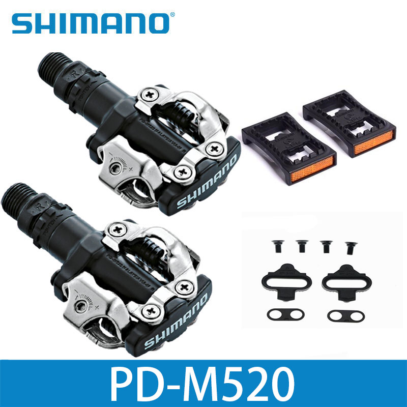 купить shimano PD M520 Clipless SPD Pedals MTB Bicycle Racing Mountain Bike Parts PD-M520
