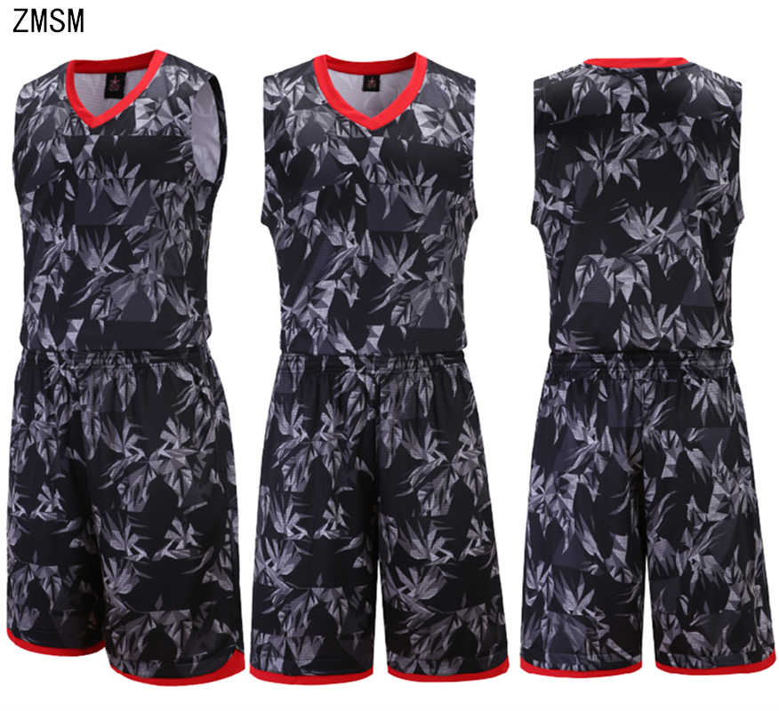 e2e78ba99441 Detail Feedback Questions about ZMSM New Men Basketball jerseys Sets 2018 2019  Basketball uniform basketball Vest Training Shorts Camouflage Sportswear ...