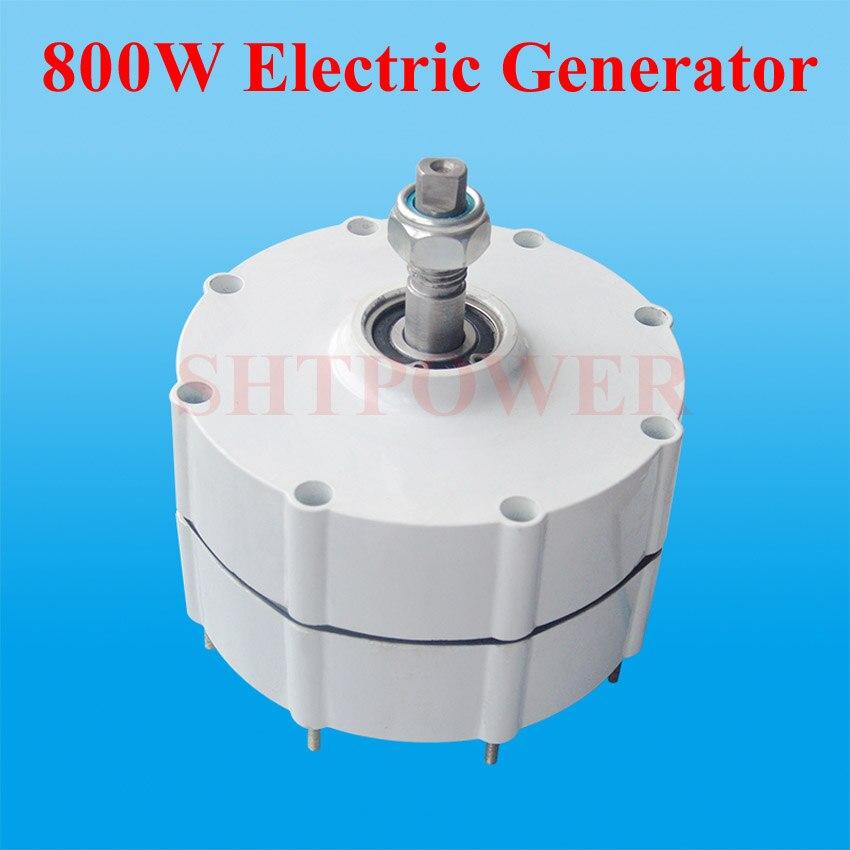 Alternateur à ca de générateur d'aimant Permanent puissance évaluée 800 W tension évaluée 12 V 24 V 48 V ca triphasé facultatif s'appliquent au moulin à vent