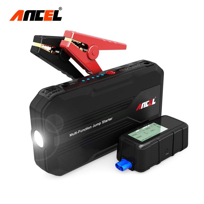 Автомобиль Пусковые устройства 500a Портативный легче пусковое устройство Запасные Аккумуляторы для телефонов Многофункциональный Зарядное устройство для автомобиля Батарея 12 В с цифровым Экран