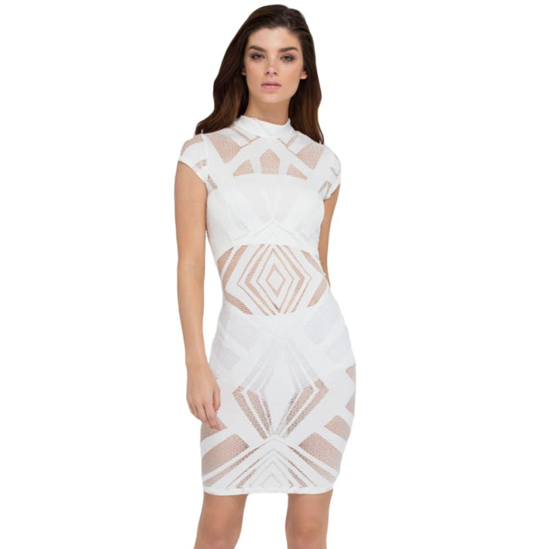 All White Club Dress | Ejn Dress