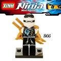 Nuevo 1 unid zan nada khan lloyd ninja kai diy figuras súper héroes Avengers Star Wars Building Blocks Ladrillos Niños Juguetes de Regalo de Navidad