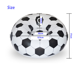 Image 4 - Inflatable Basketball Bean Bag Chair Soccer Ball Air Sofa Indoor Living Room PVC Lounger for Adult Kids Outdoor Lounge Armchair