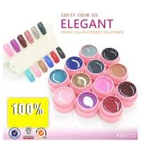 12 Colors LED Gel UV Bìa Tinh Khiết Ngâm Tắt Tự Nhiên Nail Art UV Mẹo Loạt Thanh Lịch 125-136 CANNI