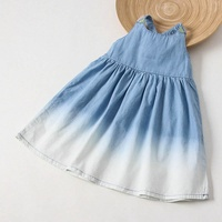 2 9 Years Girl S Dress For Holiday Color Of Gradient Dress With Colorful Belt Children