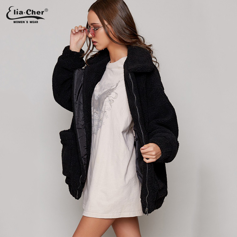 46d53758cbb new Parka Women plush Jackets Eliacher Brand Winter Spring Warm Jacket Plus  Size Casual Women Jacket Coat Winter Tops 8971-in Basic Jackets from Women s  ...