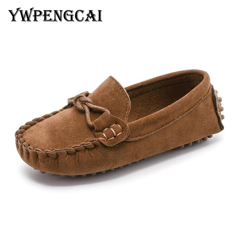 Size 21-35 Baby Toddler Shoes 2018 Spring Summer Children Soft PU Leather Casual Shoes Boys Loafers Girls Moccasins Shoes(China)