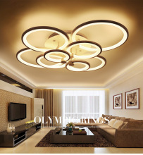 купить New remote control modern LED ceiling lamp bedroom lamp modern living room chandelier led dimming lighting по цене 11006.52 рублей