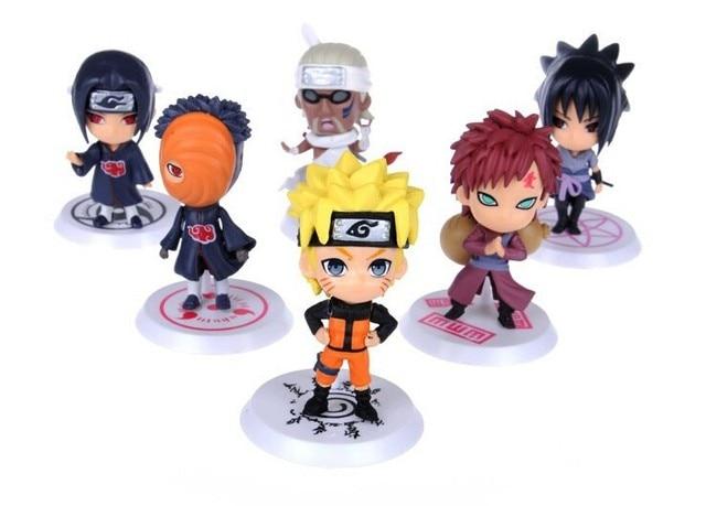 6 pçs/set 2019 anime Naruto sasuke Figura Set Toy PVC Estatueta Figura de Ação Japonês modelo builiding 7 cm Brinquedos Clássicos