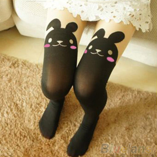 Japan Cute Sexy Rabbit Animal Print Over Knee BUNNY TAIL TATTOO TIGHTS PANTYHOSE ...