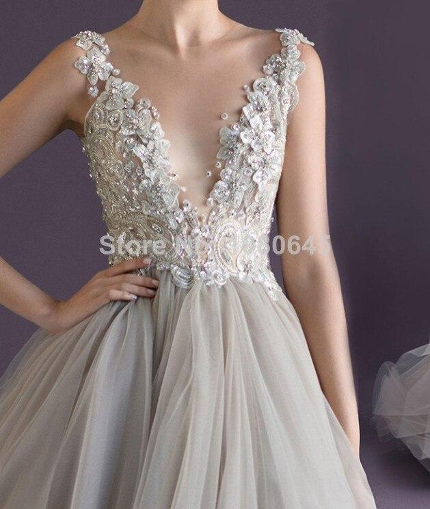 Vestidos Free Shipping Summer Women Silver Lace Beads V Neck ...