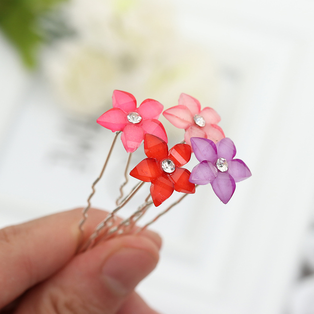 20 unid/set mujeres cristal strass flor horquillas Clips Boda nupcial Barrettes horquillas accesorios para el cabello