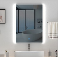 800x600mm LED Mirror / Bathroom Defogger Mirror / Wet Location / 220V LED Lighted Mirror / Futuristic Chic Glossy