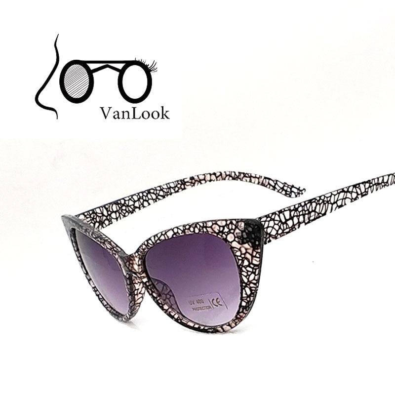 Ženska sončna očala Cat Eye blagovna znamka oblikovalec poletni slog Sončna očala Oculos Feminino 100% anti UV400 kristalna želva PC okvir