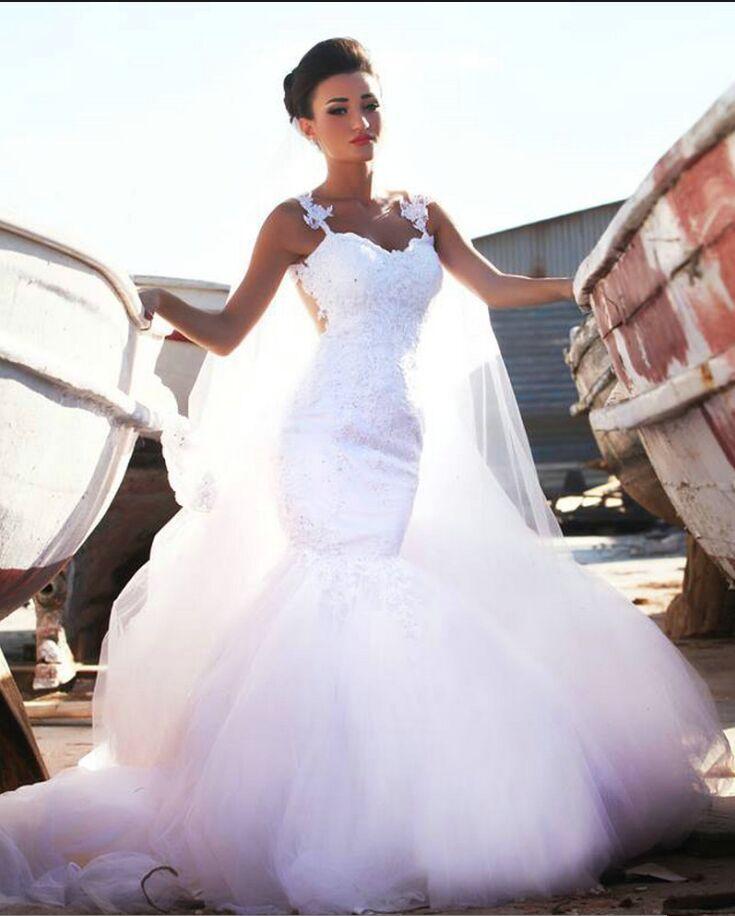 Beaded Illusion Back Wedding Dress: 2016 Said Mhamad Lace Wedding Dresses Sweetheart Neckline
