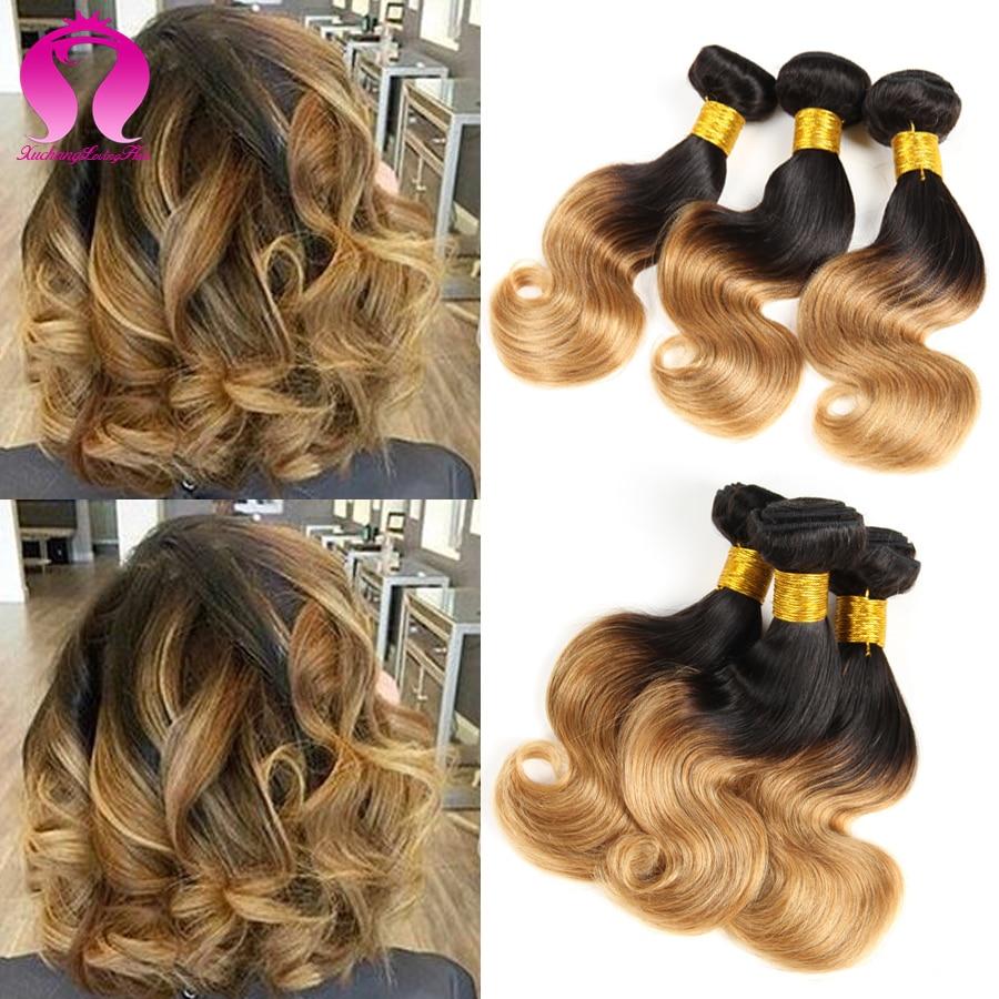 Buy Two Tone Ombre Brazilian Hair Body Wave 3 Bundles