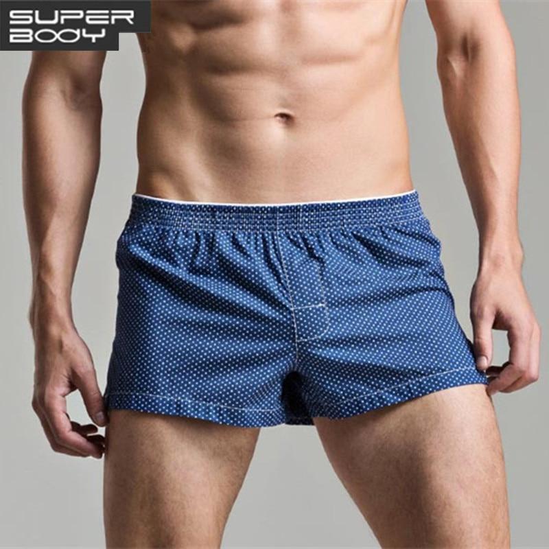 Men's Underwears Boxers Cotton Underpants High Quality Underwear Panties Boxer Shorts Plaid Point Soft Comfortable Lounge Loose