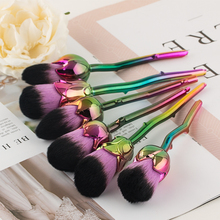 Fashion 6pcs Colorful Flower Makeup Brush Sets Easy to Foundation Powder Brushes Lots Cosmetic Tools