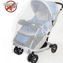 2018 Brand New Newborn Toddler Infant Baby Stroller Crip Netting Pushchair Mosquito Insect Net Safe Mesh Buggy White(China)