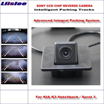 Liislee High Quality Intelligentized Car Parking Rear Reverse Camera For KIA K3 Hatchback / Surat 3 / NTSC PAL RCA SONY CCD