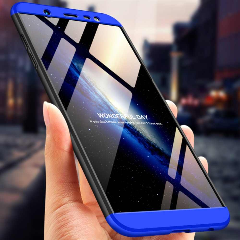 new styles ee6c8 d17eb For Samsung J8 2018 Case 360 Full Protection Shockproof Hard Slim Back  Cover For Samsung Galaxy J8 2018 Phone Cases Fundas Coque