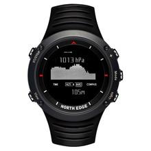 North edge hommes sport montre altimètre baromètre thermomètre boussole météo montres numérique de course escalade montre-bracelet