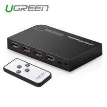 Ugreen мини 3 разъём(ов) HDMI переключатель переключатель hdmi сплиттер hdmi-портовый для XBOX 360 PS3 PS4 смарт-android HD 1080 P 3 вход на 1 выход