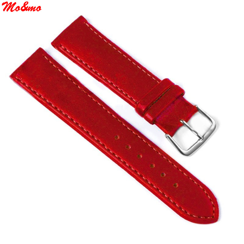Hot Selling Relojes Band White & Red Genuine Leather Alligator Crocodile Grain Watch Strap Wholesale tian wang hot selling ss case genuine leather band ladies watch free shipping 24 hour dispatch ls3799g 1