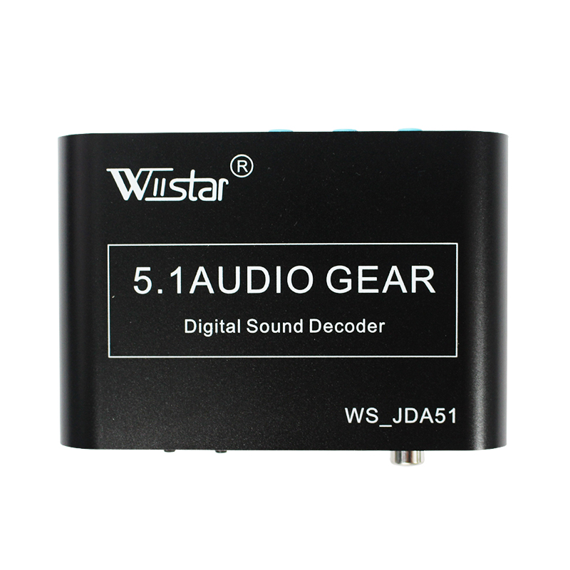 Wiistar 5.1 Audio Decoder SPDIF Coaxial to 3.5&USB Dolby DTS AC3 Digital to 5.1 Amplifier Analog Converter Free Shipping smal a6 hifi digital amplifier 50wx2 dac digital 110v 220v native dsd512 usb optical coaxial lp player cd analog input
