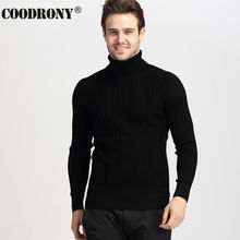 Winter Thick Warm Christmas Sweater Men Pure Merino Wool Sweaters Casual Turtleneck Pullover Cashmere Knitwear Jersey Homme 6349