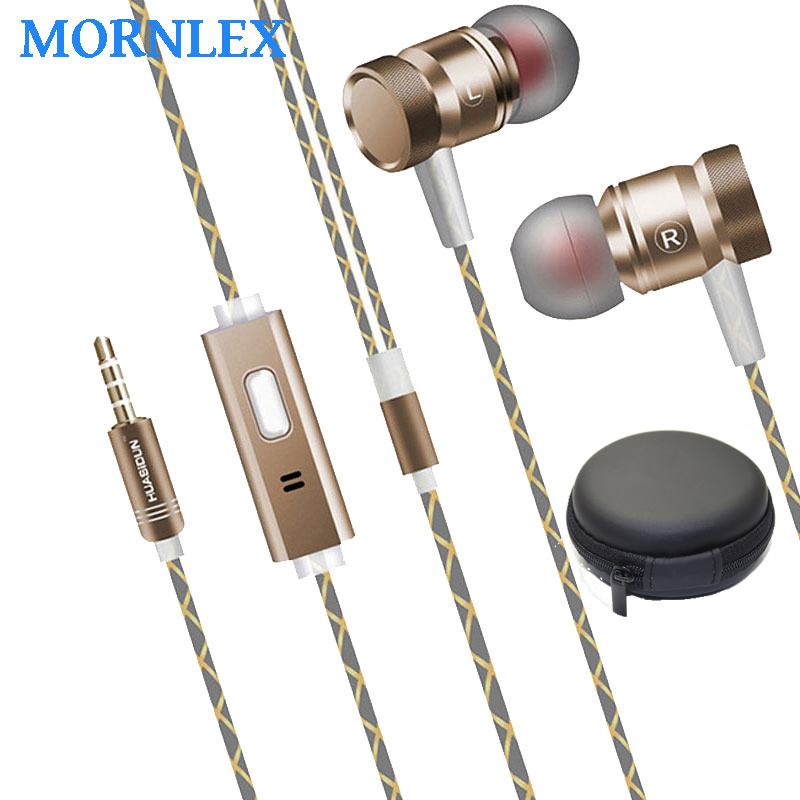 3.5mm metal earphone in ear earbuds HiFi Stereo Music earpieces with microphone for ps4 Mp3 player auriculares deportivos for mi kst x2 in ear stereo earphone with metal earbuds