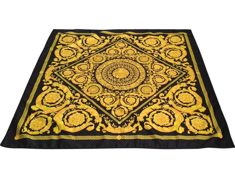 2019 wysokiej jakości klasyczny styl geometryczne kwadratowy kształt cyklu dla domu wesele bankiet drukowane wzór żółty obrus w Obrusy od Dom i ogród na  Grupa 1