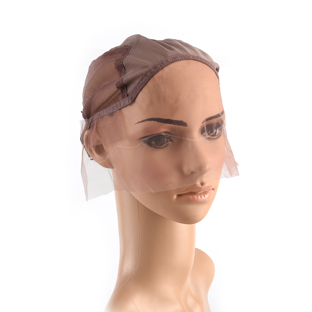 Tools & Accessories Brown Color Lace Front Wig Cap For Making Wigs With Adjustable Strap Glueless Weaving Cap Wig Caps