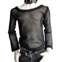 Wamami 06 Black Fishnet T Shirt Outfit 1 4 MSD DZ BJD Dollfie