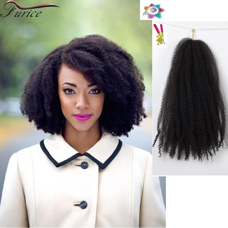 Marley Hair Extensions Crochet Braid Hair 18 Inch Afro Kinky Curly