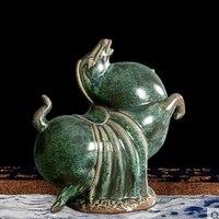 Керамика жира лошади украшением рабочего стола дома Гостиная ТВ кабинет исследование имитация бронзы украшения