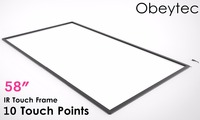Obeytec 58 inch Infrared IR touch screen IR touch frame overlay 10 touch points Plug and works