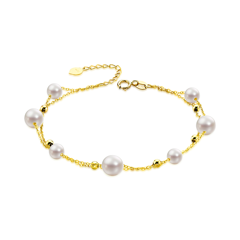 18K Freshwater Pearl Bracelet Female Models Yellow BraceletElegant  Fashion Jewelry