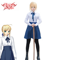 Sexy Fate Stay Night Japanese Anime Cosplay Saber Women Costume Love Live Lolita Dress Clothing Wig Girl School Uniform